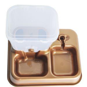 ペット給食機 ペット自動給餌器 犬猫兼用 給水給食両用 お留守番 出張用 1.5KGの大容量 金色