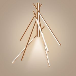 LEDペンダントライト 照明器具 リビング照明 ダイニング照明 店舗照明 吹き抜け 竹型 オシャレ リモコン付 調光調色