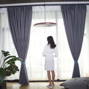 遮光カーテン オーダーカーテン 米式 無地柄 シェニール 綿麻 3級遮光カーテン(1枚)