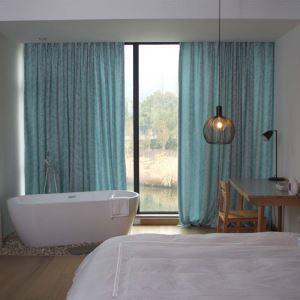 遮光カーテン オーダーカーテン 米式 ジャカード 葉柄 田舎風 3級遮光カーテン(1枚)