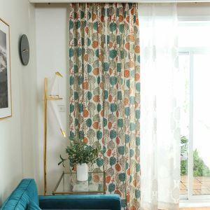 遮光カーテン オーダーカーテン 現代 捺染 ツリー柄 子供屋用 ポリエステル 3級遮光カーテン(1枚)