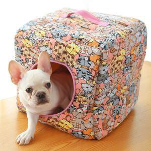ペットベッド ペットハウス ペット用寝床 立方体 キューブハウス 四季用 犬猫用