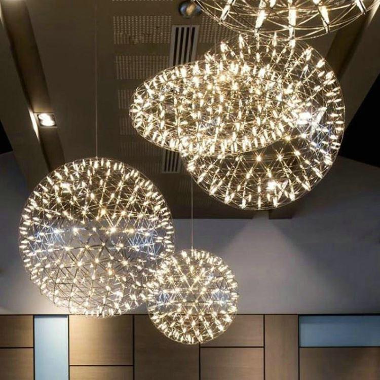 Ledペンダントライト 照明器具 リビング照明 ダイニング照明 星空 花火照明 キラキラ 楕円形 Led対応