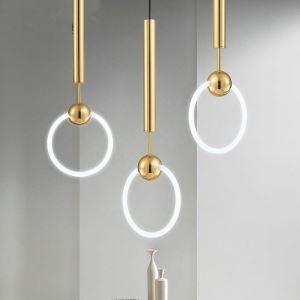 ペンダントライト 照明器具天井照明  ダイニング照明 玄関照明 間接照明 円環型 オシャレ