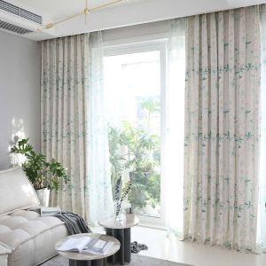 遮光カーテン オーダーカーテン 和風 捺染 さくら柄 3級遮光カーテン(1枚)