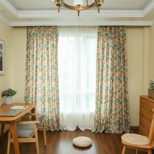 遮光カーテン オーダーカーテン 米式 捺染 花柄 レトロ 3級遮光カーテン(1枚)