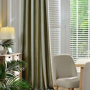 遮光カーテン オーダーカーテン 北欧 ジャカード 縞柄 3級遮光カーテン(1枚)