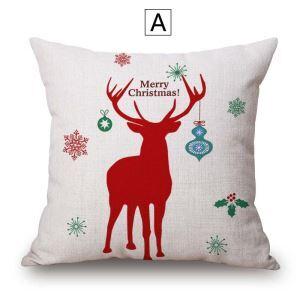 クッションカバー 抱き枕カバー 枕カバー ギフト クリスマス トナカイ柄 Christmas 4色