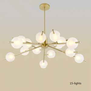シャンデリア 照明器具 リビング照明 店舗照明 寝室照明 北欧風 分子型 9/12/15灯 金色/黒色