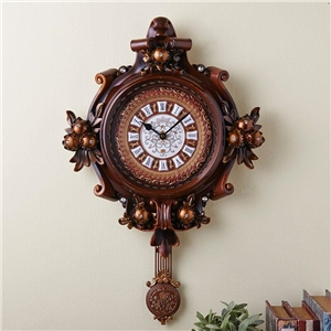 振り子時計 壁掛け時計 静音時計 アンティーク