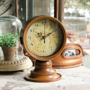 時計 置き時計 静音時計 クロック 木質 北欧 レトロ インテリア ZT063