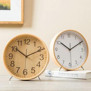 時計 置き時計 静音時計 クロック 木質 現代的 シンプル zz02