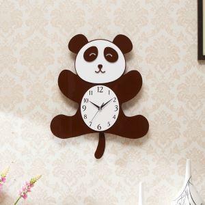 時計 壁掛け時計 静音時計 クロック 現代的 アクリル パンダ 創意 AP17005