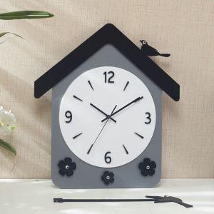 時計 壁掛け時計 静音時計 クロック 現代的 アクリル 小屋 創意 AP17086