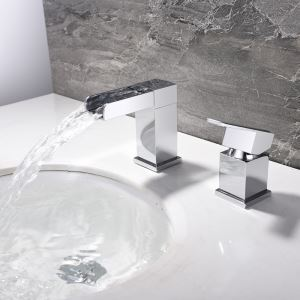 洗面水栓 バス蛇口 立水栓 冷熱混合栓 水道蛇口 クロム 2点