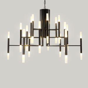 LEDペンダントライト 照明器具 リビング照明 ダイニング照明 寝室照明 枝型 オシャレ LED対応 24/36灯 金色/黒色/白色