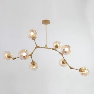 ペンダントライト 照明器具 天井照明 店舗照明 リビング照明 寝室照明 カントリー風 琥珀色 8灯 LB18702