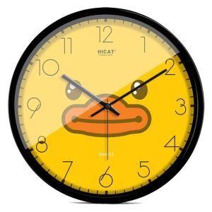 時計 壁掛け時計 静音時計 クロック 金属 可愛い 現代的 ラバー・ダック 30cm W171