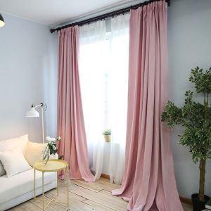 遮光カーテン 寝室カーテン ブラックシルク付 純色 3色 現代風 1級遮光カーテン(1枚)