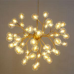 LEDペンダントライト 照明器具 リビング照明 寝室照明 店舗照明 北欧風 蛍型 27/36/45/54/63灯 金色/黒色