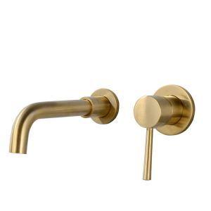 壁付水栓 バス蛇口 洗面蛇口 冷熱混合栓 水道蛇口 手洗い器蛇口 ブラス