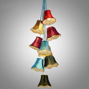 ペンダントライト 照明器具 リビング照明 子供屋照明 玄関照明 鈴型 カラフル オシャレ 9灯