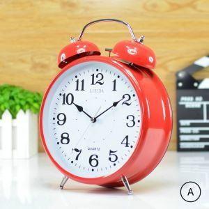 時計 置き時計 静音時計 クロック 金属 現代風 シンプル 創意 インテリア 30cm N402