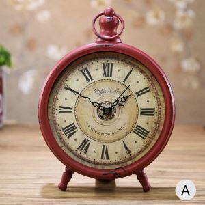 時計 置き時計 静音時計 クロック 金属 北欧風 レトロ 創意 インテリア 20cm FG608