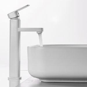洗面蛇口 バス水栓 冷熱混合栓 手洗器蛇口 水栓金具 水道蛇口 白色 H32cm