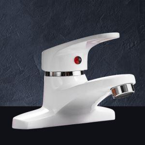 洗面蛇口 バス水栓 冷熱混合栓 立水栓 水道蛇口 白色