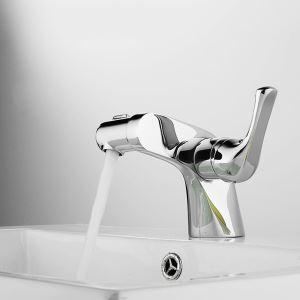 洗面蛇口 バス水栓 冷熱混合栓 立水栓 水道蛇口 オシャレ クロム