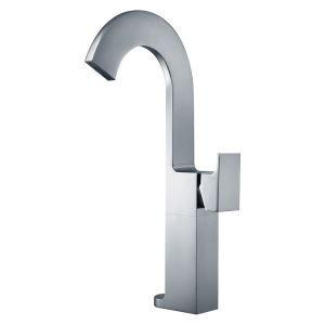 洗面蛇口 バス水栓 冷熱混合栓 立水栓 水道蛇口 滝状吐水式 クロム H365mm