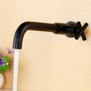 壁付蛇口 キッチン水栓 台所蛇口 単水栓 水道蛇口 黒色