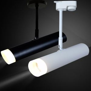 LEDスポットライト ダクトレール用照明 シーリングライト 玄関照明 店舗照明 黒白色 簡単取付