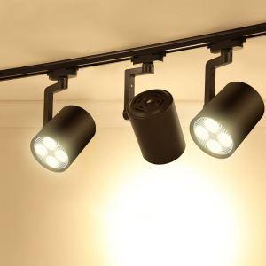 スポットライト ダクトレール用照明 照明器具 玄関照明 店舗照明 黒色 簡単取付