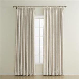 極細繊維カーテン オーダーカーテン UVカット ベージュ 無地柄 1級遮光カーテン(1枚)