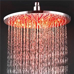 3色LEDヘッドシャワー シャワー水栓 温度センサー付 30cm(0913-8109)