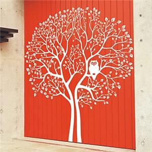 ウォールステッカー 転写式ステッカー PVCシール 壁紙シート 剥がせる 大きな木とフクロウ(1985-D5)