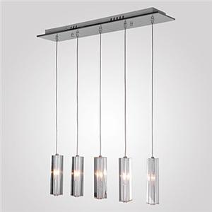 ペンダントライト 照明器具 天井照明 リビング照明 寝室照明 クリスタル 5灯