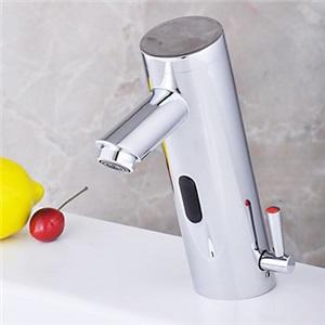 センサー水栓 自動水栓 洗面蛇口 冷熱混合栓 DC6V