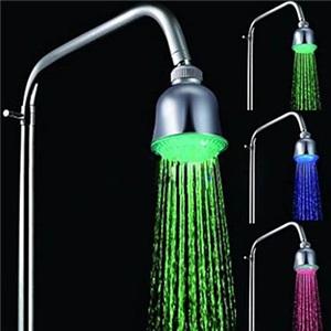 3色LEDヘッドシャワー シャワー水栓 温度センサー付 1039-M4304