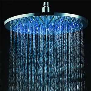 3色LEDヘッドシャワー シャワー水栓 温度センサー付 30cm