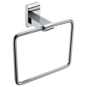 浴室タオルリング タオル掛け タオル収納 壁掛けハンガー バスアクセサリー クロム (0640)