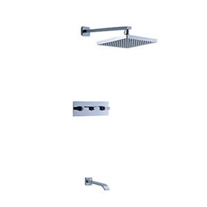 埋込形シャワー水栓 バス蛇口 ヘッドシャワー+蛇口付き 混合栓 クロム