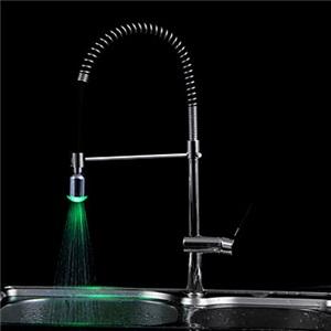 LED水栓スプレー 水栓金具 蛇口アクセサリー( M22x1)