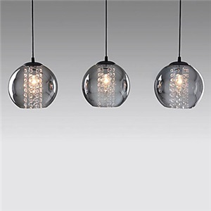 ペンダントライト 天井照明 照明器具 ガラスシェード 3灯