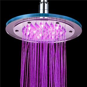 7色LEDヘッドシャワー レインシャワー水栓 シャワー製品 20cm