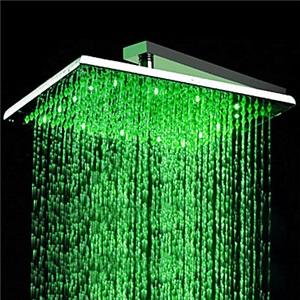 3色LEDヘッドシャワー シャワー水栓 温度センサー付 40cm