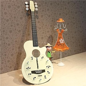 置き時計 卓上時計 ギター型 音符柄 創意