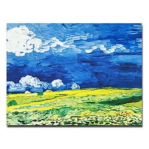 油絵画 ファン・ゴッホ画 手描き 波 フレームなし
